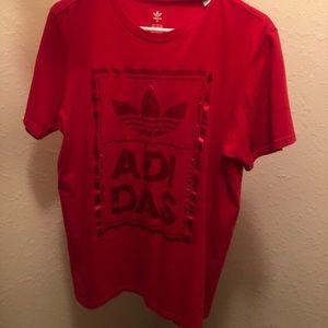 Red medium adidas shirt